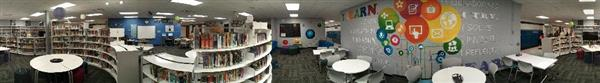 panorama photo of school library