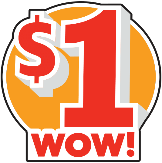 $1 WOW with starburst